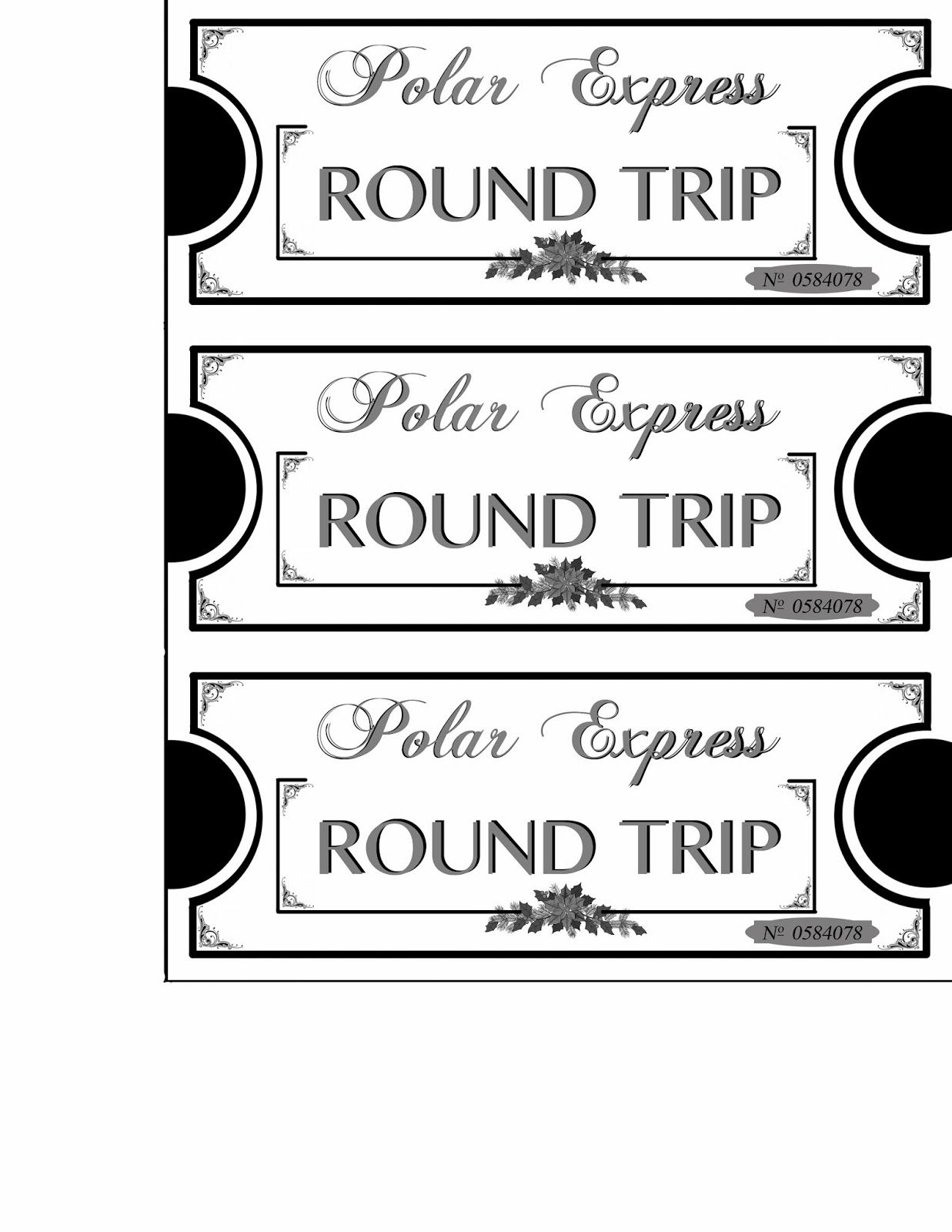 Mommy will play: Polar Express Tickets printables! | Christmas ideas ...