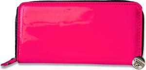 Kožená peňaženka lakovaná so zipsom 5ff0dc2e5a3
