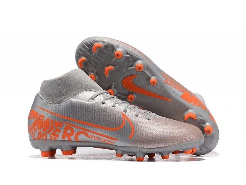 Upcoming Football Boots Nike Mercurial Superfly Vii Club Fg Mg Silver Orange Custom Soccer Cleats Firm Ground Mens Size 38 39 40 41 42 43 44 45 46 Sapatilhas Nike Tenis Nike Masculino Chuteiras De Futebol