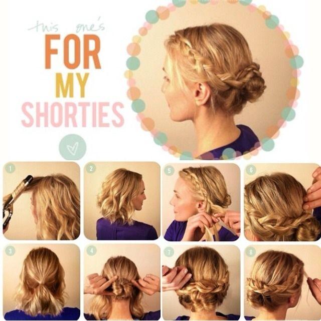 Cute Updo For Short Hair Short Hair Updo Easy Hairstyles Short Hair Styles