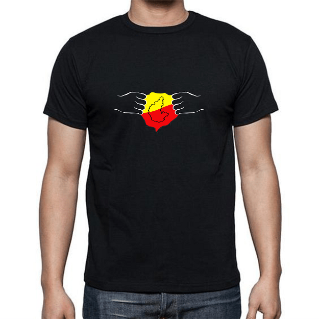 4dff192be Kannada Flag printed t-shirt in black color Available in four sizes (small,  medium, large and extra-large)