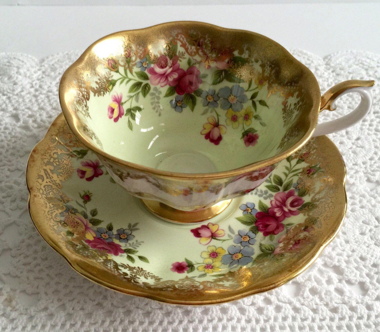 Royal albert bone china tea cup amp saucer winsome pattern ebay - Rare Royal Albert China Tea Cup Saucer Portrait Series Avon Shape By Nicerthannewvintage