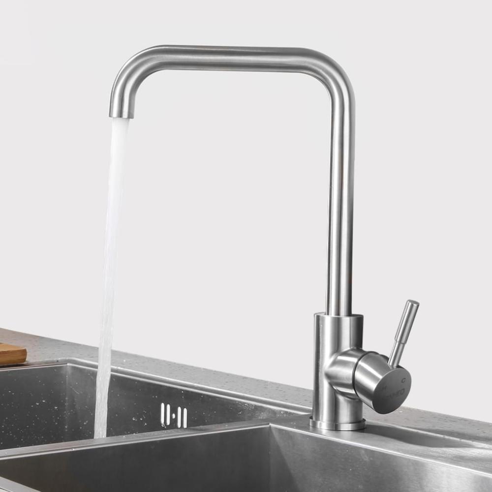 Niederdruck Wasserhahn Küche Armatur aus Edelstahl  19