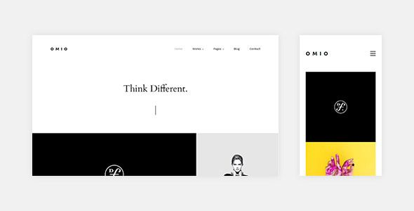 omio is a creative photography portfolio template with a minimal