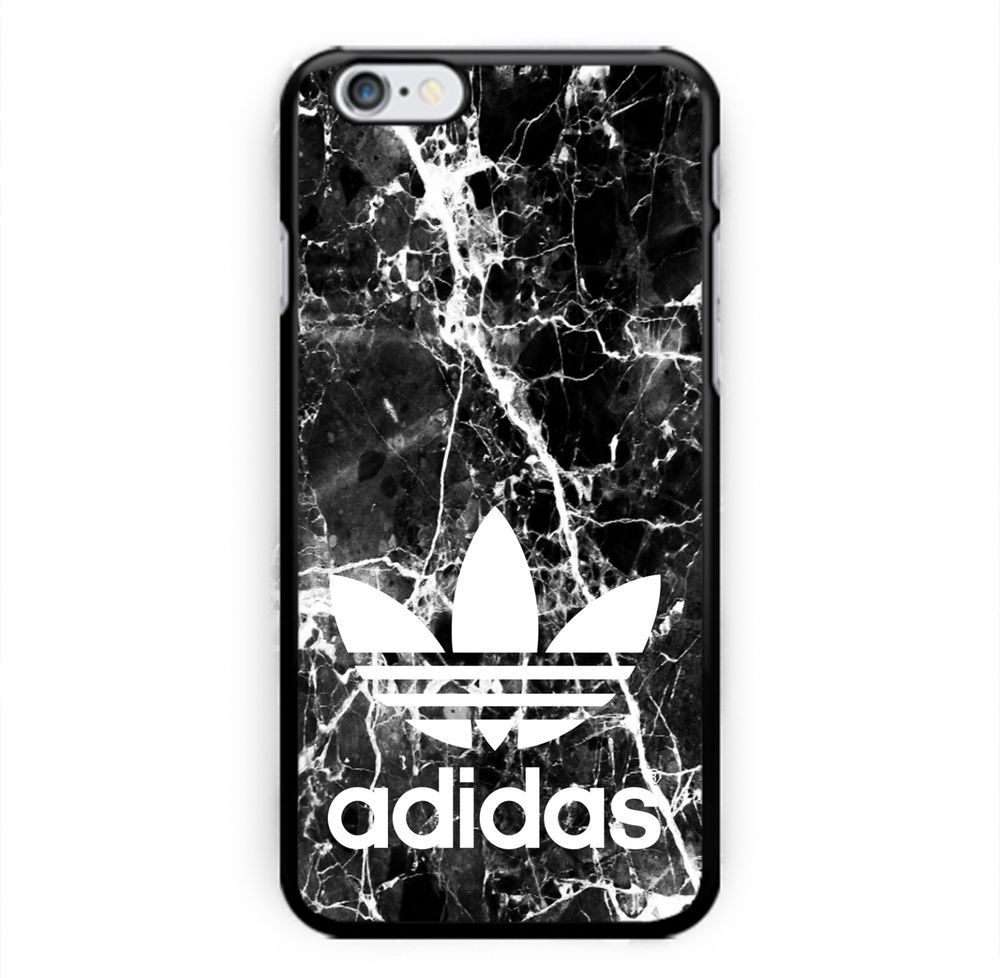 Hot New Adidas Marble Black For Iphone 6 6s Hard Plastic