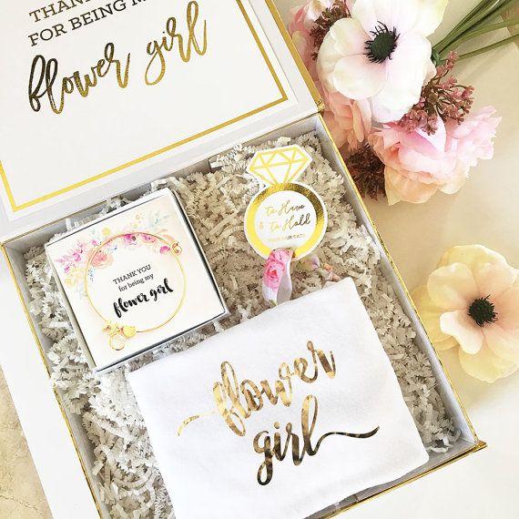Best Wedding Gift For Girl: Flower Girl Proposal Box Flower Girl Basket Will You Be My
