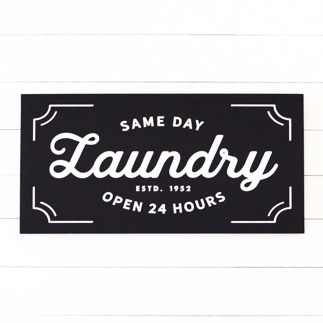 """Our """"Same Day Laundry"""" Sign, Making Laundry Day More"""