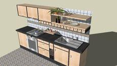 Cocina - 3D Warehouse | SKP | Cocinas, Modelos y Dibujos