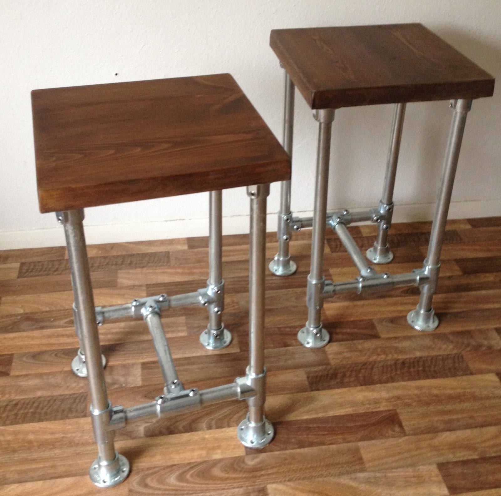 Industrial Vintage Scaffold Style Pipe High Bar Stool