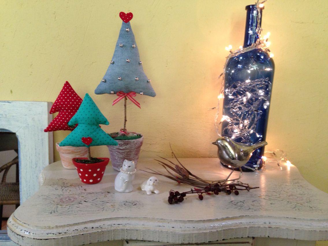 Mini árvores de Natal