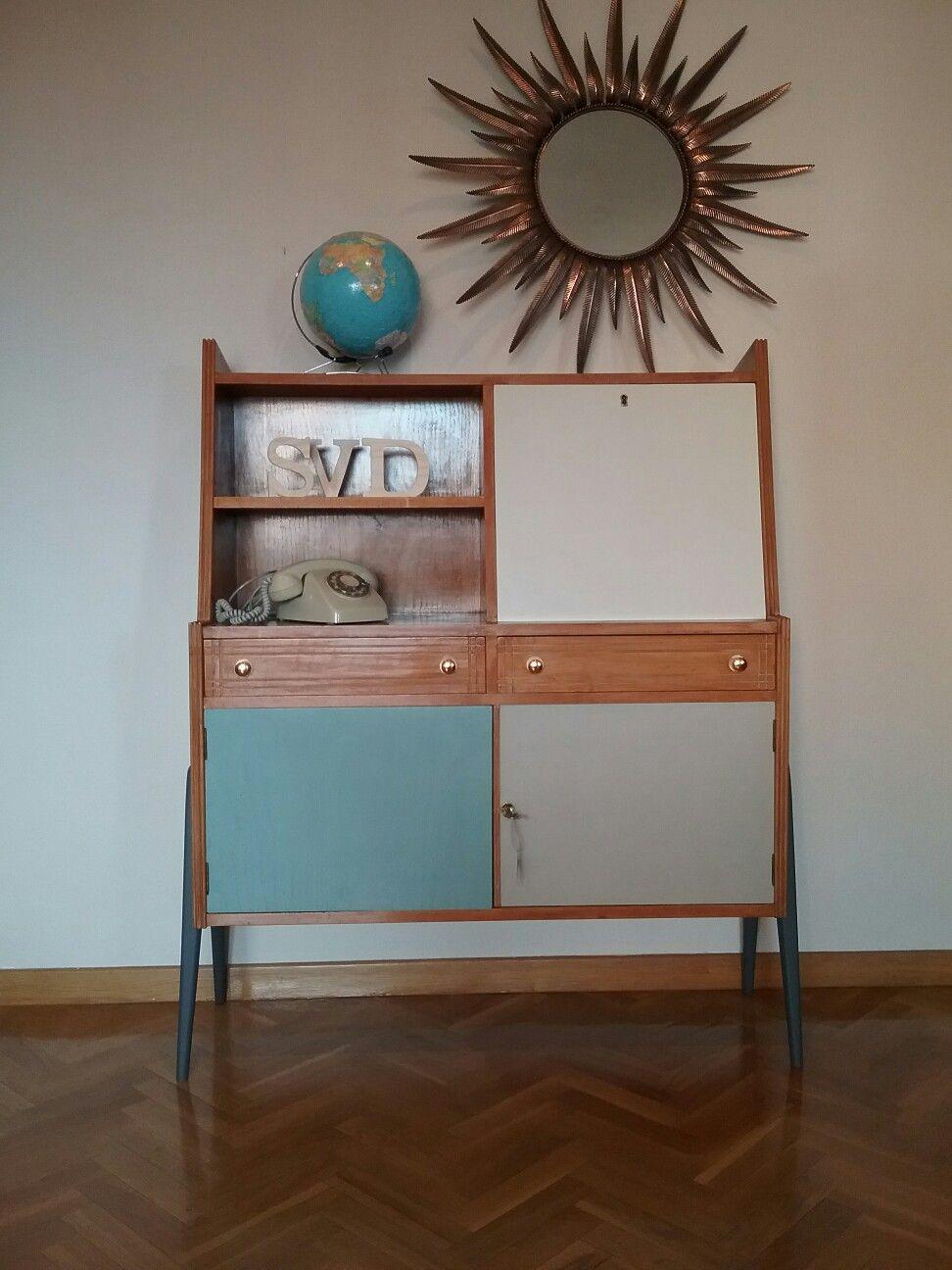 Aparador Vintage Espa A Circa A Os 50 Dise O N Rdico Restaurado  # Muebles Mocholi