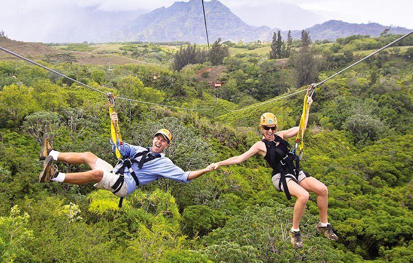Kauai Zipline Princeville At Hanalei Kauai Ziplining Kauai Vacation Zipline Adventure