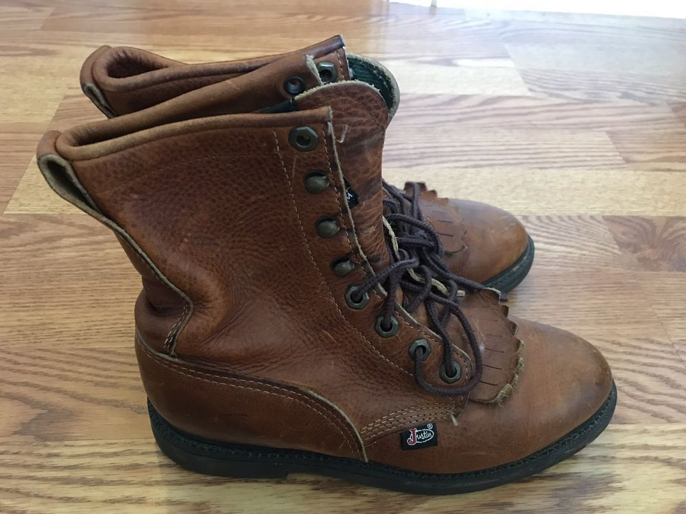 Justin Womens Western Work Boots Size 7 B USA Made Conductor Copper Style  762  fashion  clothing  shoes  accessories  womensshoes  boots (ebay link) 01f0efd053