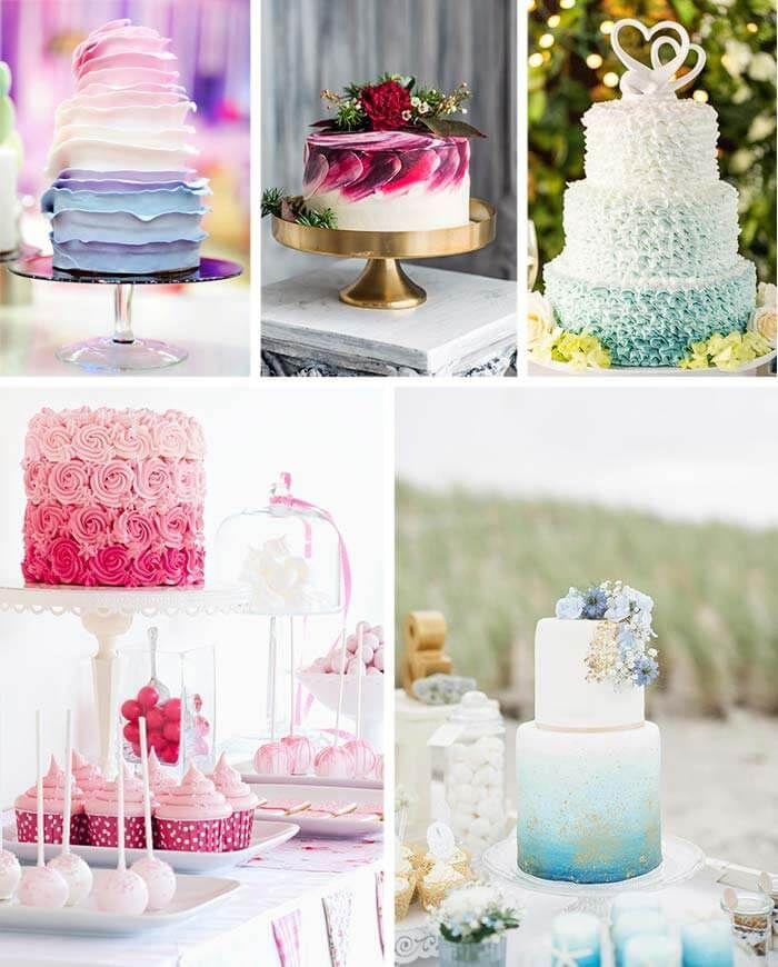 Ombre Torten Hochzeitstorte Pinterest