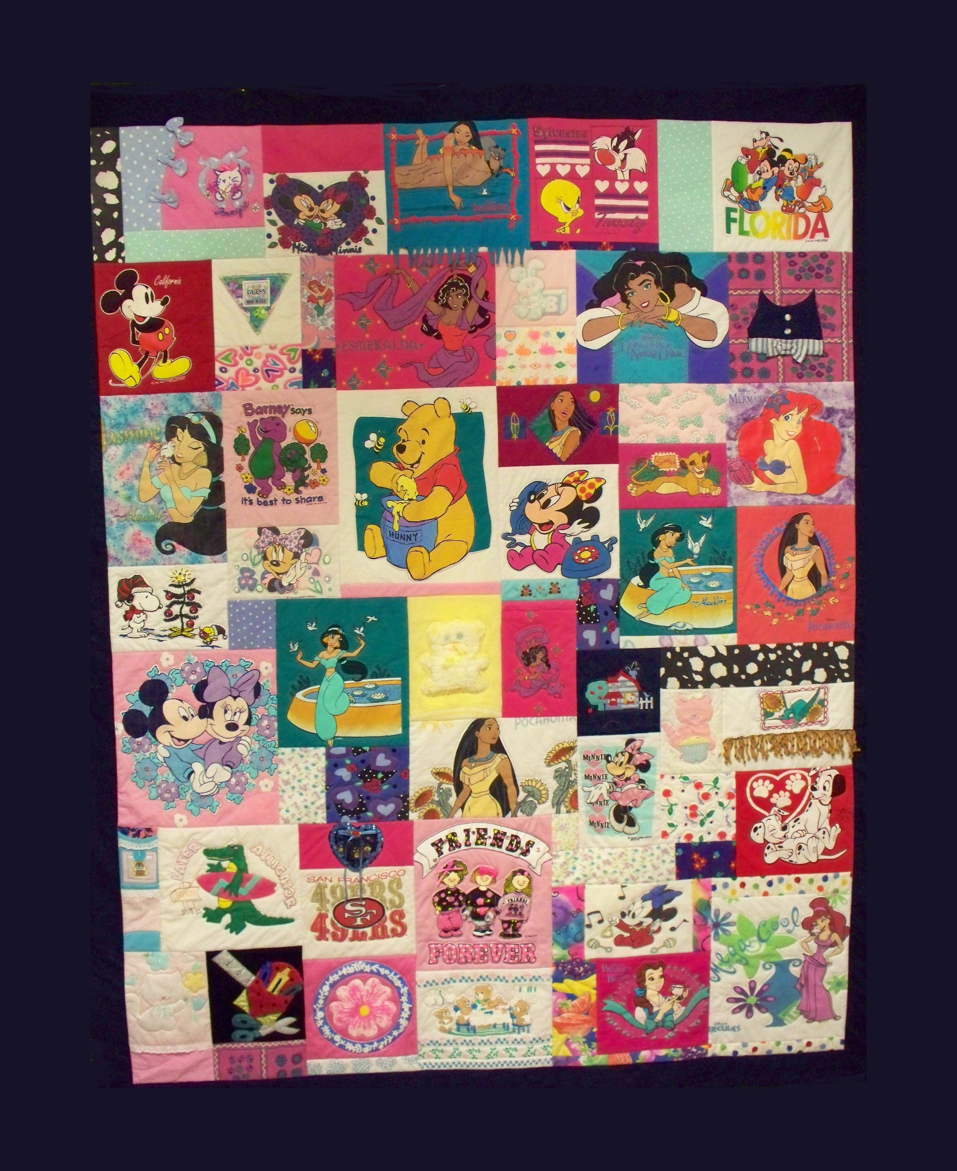 T-shirt quilt - one of the best I've seen. Love all the cute kids ... : quilt from tshirts - Adamdwight.com