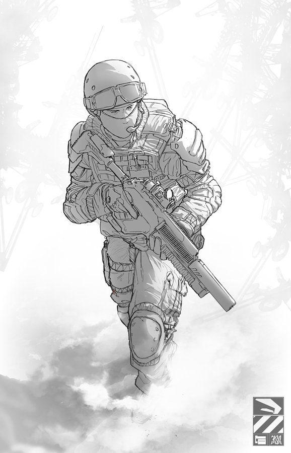 Крутые рисунки солдат