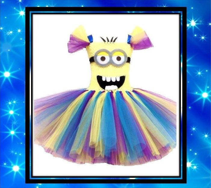 Despicable Me Minion Inspired Tutu Dress by 4DIVAliciousCouture, $20.00