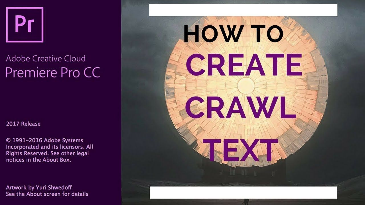 Adobe Premiere Pro Cc 64 How To Create Crawl Titles In
