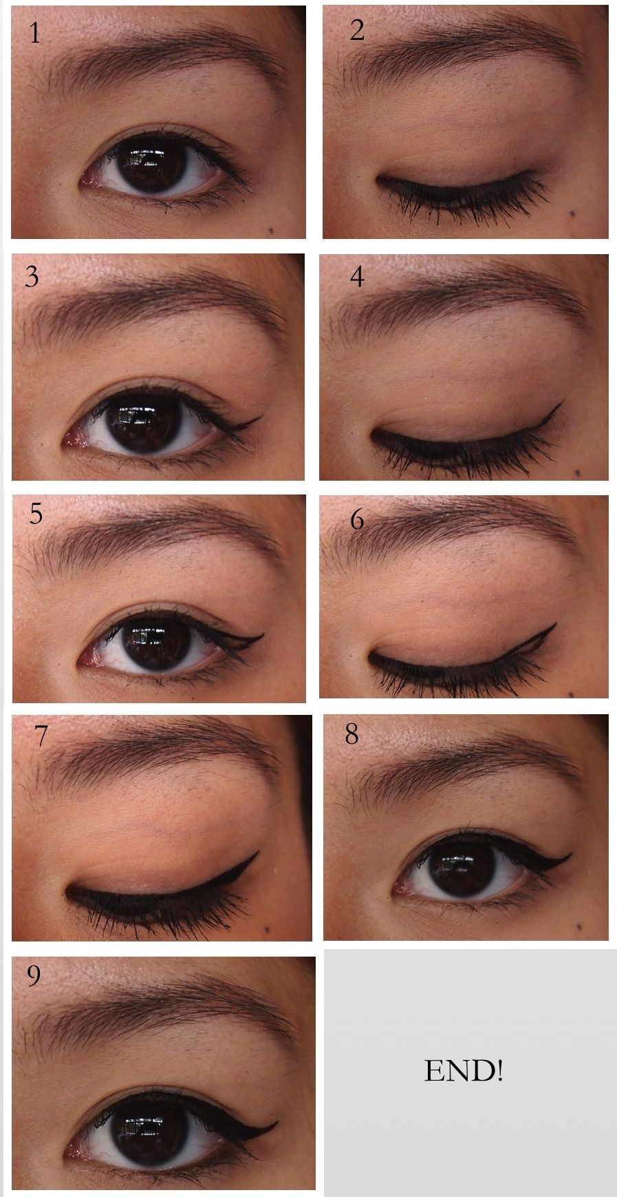 Asian makeup tutorial images any tutorial examples how to get the perfect winged liner for asian eyelids beauty how to get the perfect baditri Image collections