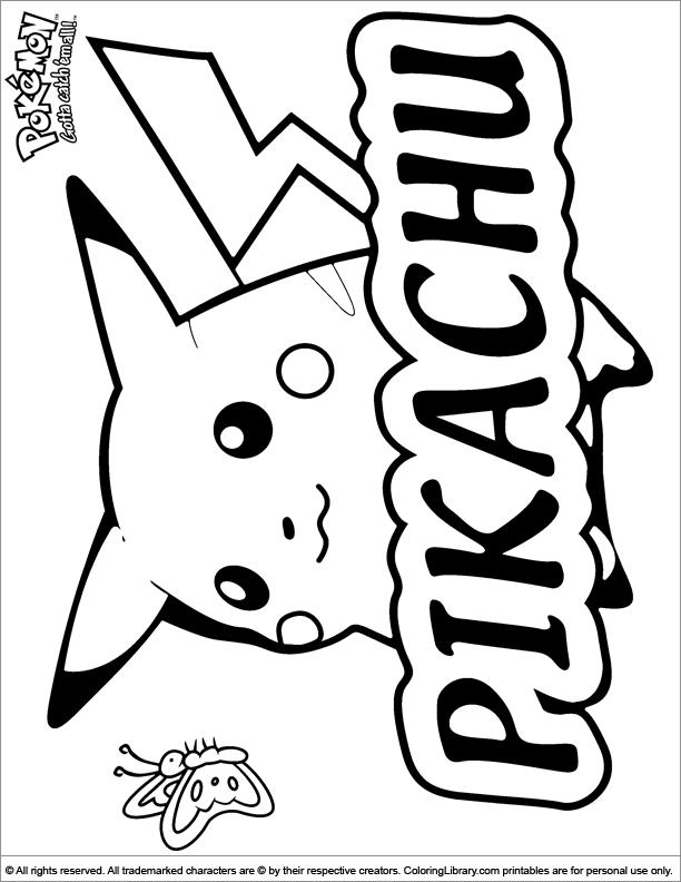 Pokemon Coloring Page Colten Pinterest