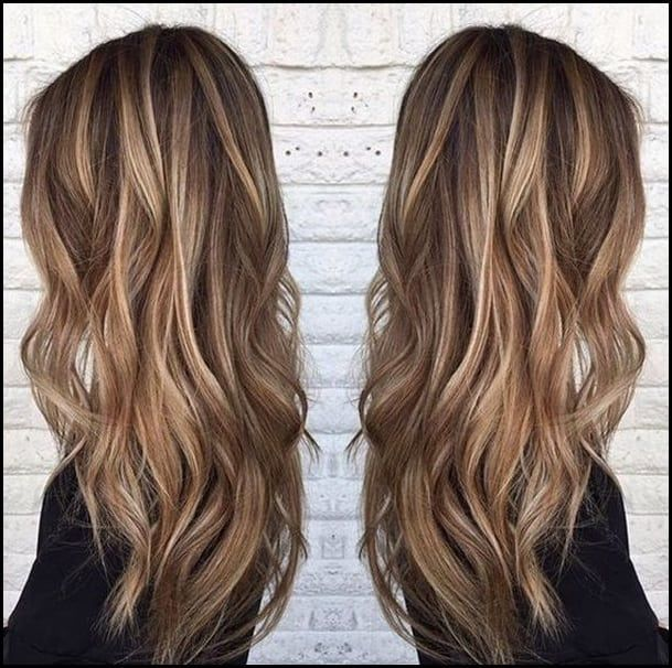 20 Atemberaubende Braune Haare Mit Blonden Strahnen Meine Frisuren Haarfarben Mittelbraune Haare Haarfarbe Blond