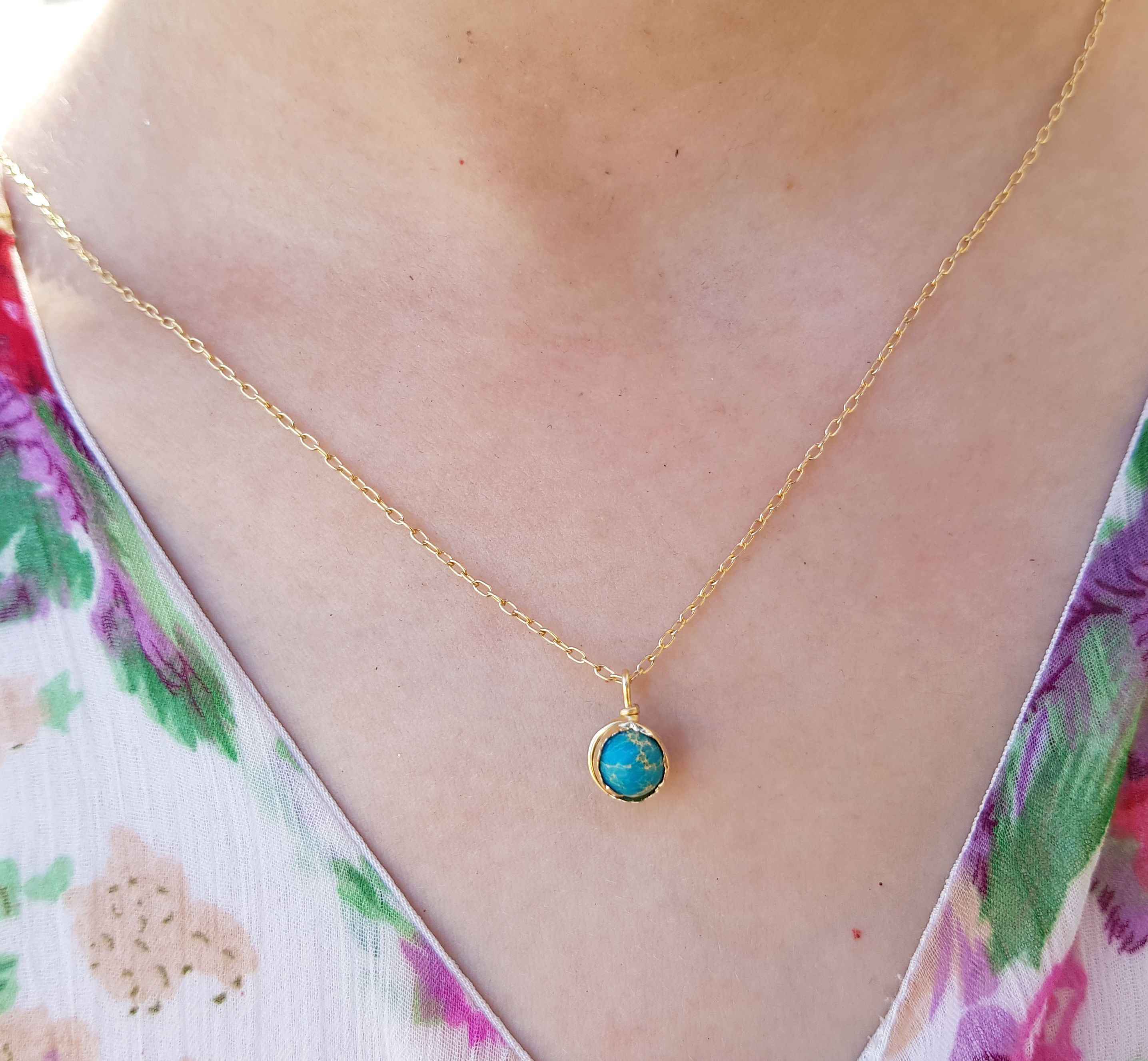 14k Gold Filled Turquoise Necklace Sterling Silver Gold Etsy Gold Necklace Women Turquoise Jewelry Boho Turquoise Stone Jewelry