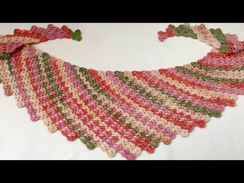 Youtube Crochet Baktus Scarf Pinterest Youtube Crochet And Shawl