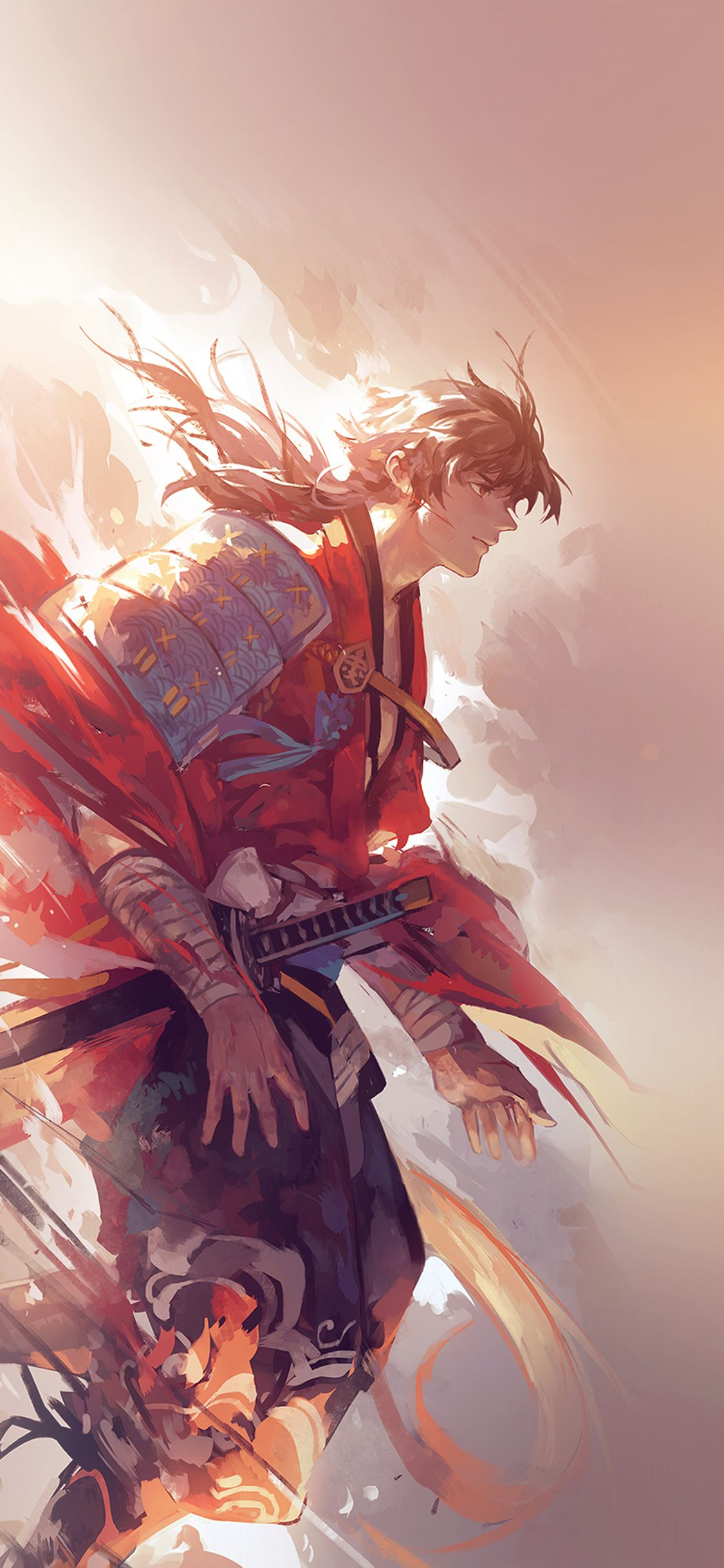 Aw64 Hanyijie Hero Red Handsomeillustration Art Anime Flare Via Http Iphonexpapers Com Wallpapers For Iphone X Anime Art Anime Wallpaper
