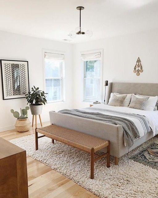 50 Sleigh Bed Inspirations For A Cozy Modern Bedroom: - #bed #plants #plantsinbathroom