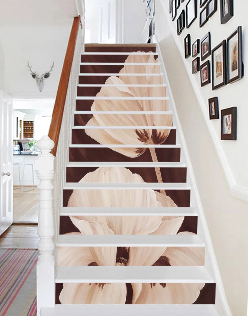Pin by AJ WALLPAPER on Flower Stair Risers Stair risers