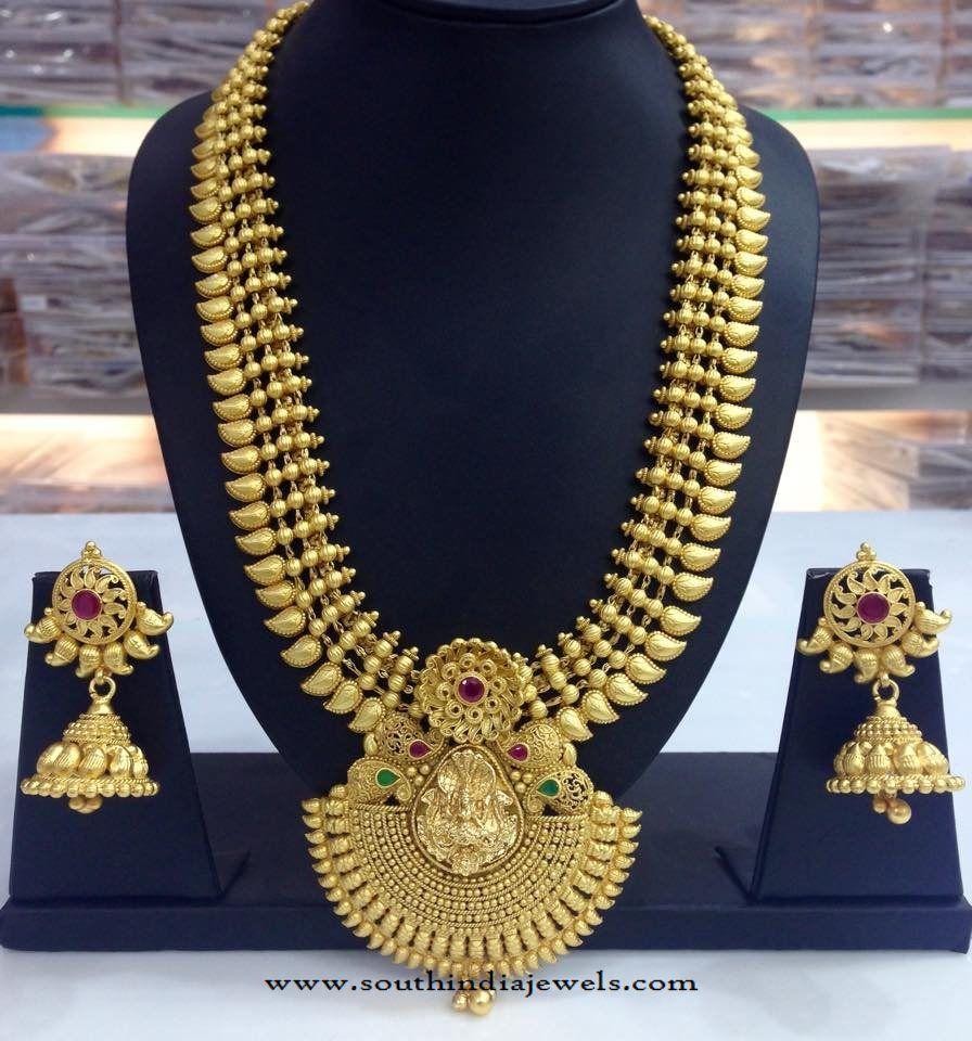One Gram Gold Bridal Haram Design   Models, Gold and Collection