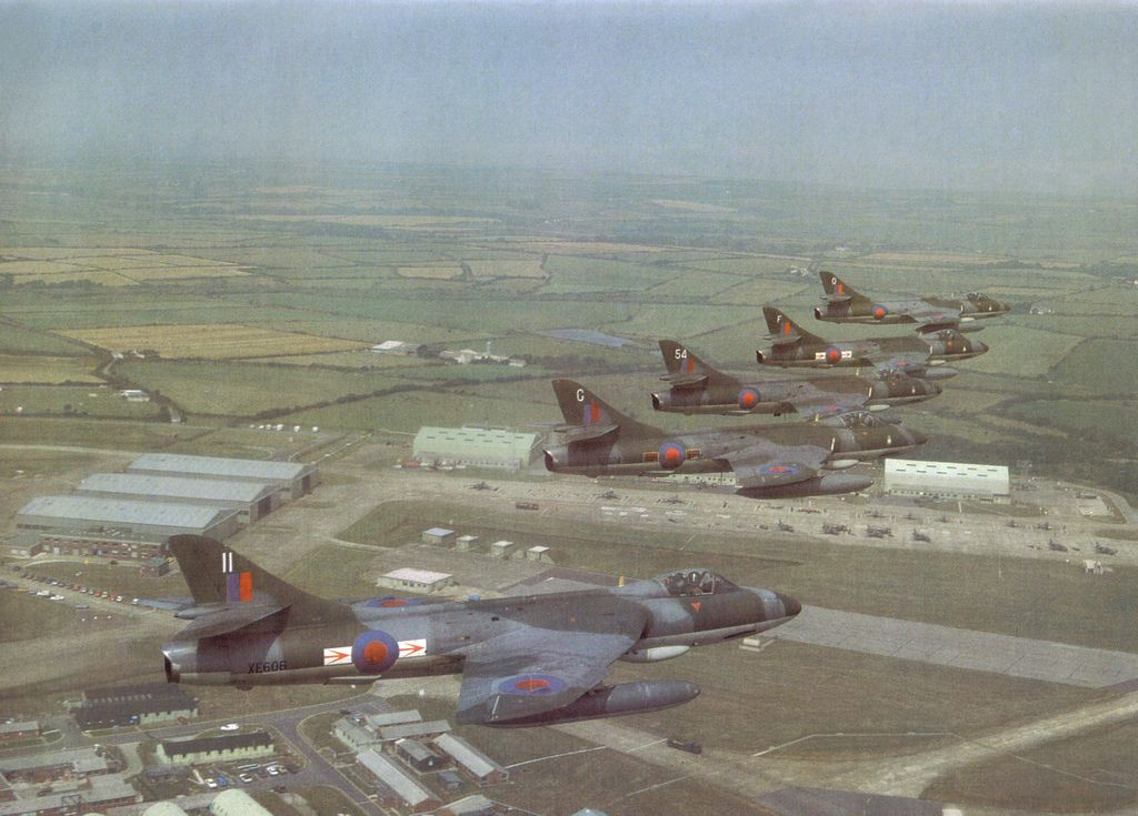 Hawker Hunter Farewell Over Raf Brawdy 1984 British Aircraft Military Aircraft Fighter Jets