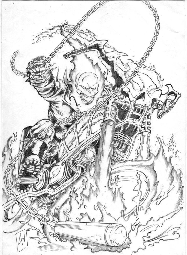 Ghost Rider Coloring Sheets Ghost Rider Tattoo Ghost Rider Ghost Rider Images