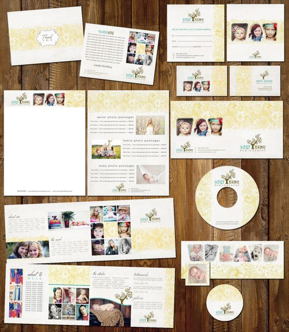 Boutique Marketing Package - Flower Pattern Set - Photography - cd label