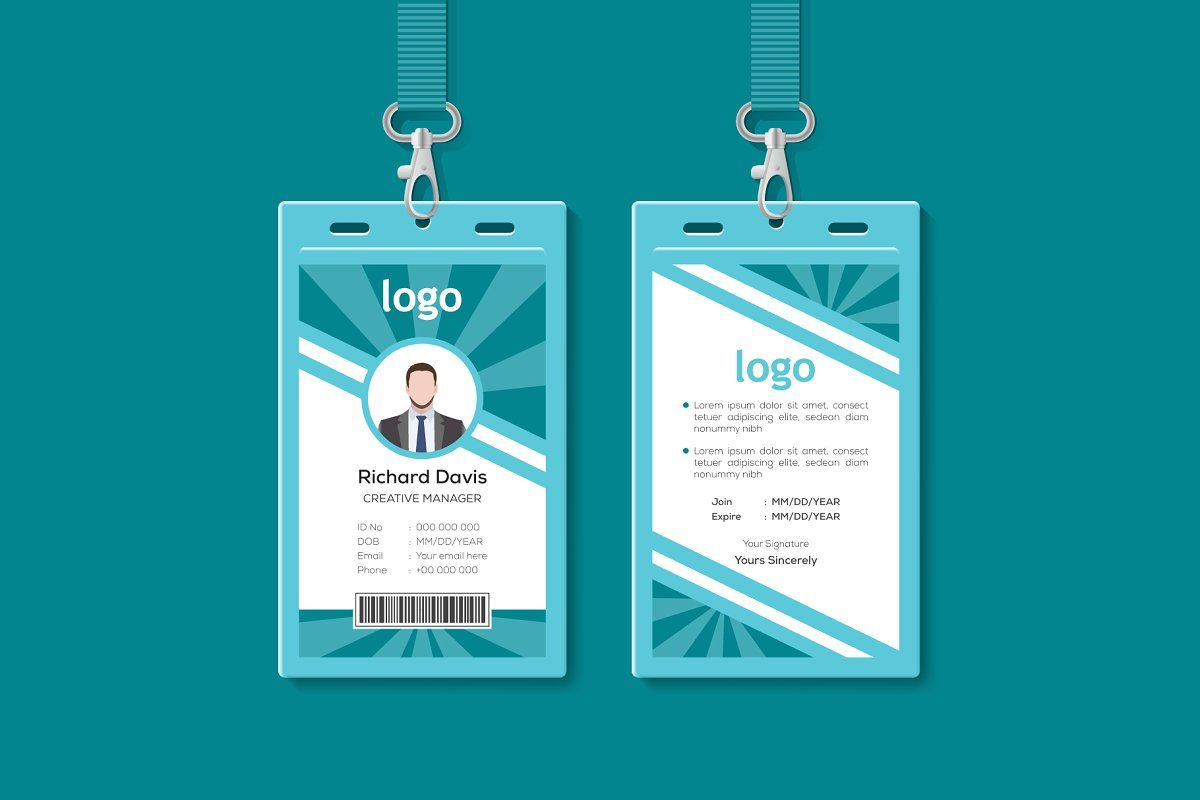 Multipurpose Identity Card Template Corporate Id Id Card Template Card Template