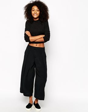 I am addicted to wide leg trousers this summer! These, from Monki ...