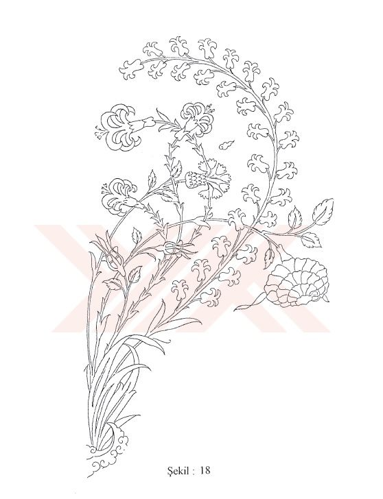 Turkish Motifs | Sanat | Pinterest | Dibujo de flores, Tarjeteria ...