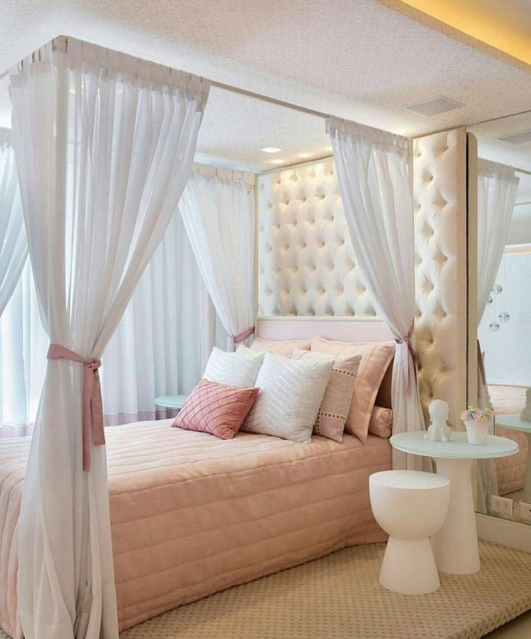 Bedroom Decorating Ideas Neutral Colors Curtains For White Bedroom Vaulted Ceiling Bedroom Design Ideas Bedroom Lighting Kids: Pin Van Rietje Ferdinandus Op Hemelbed