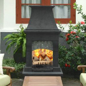 Franciscan Outdoor Wood Burning Fireplace