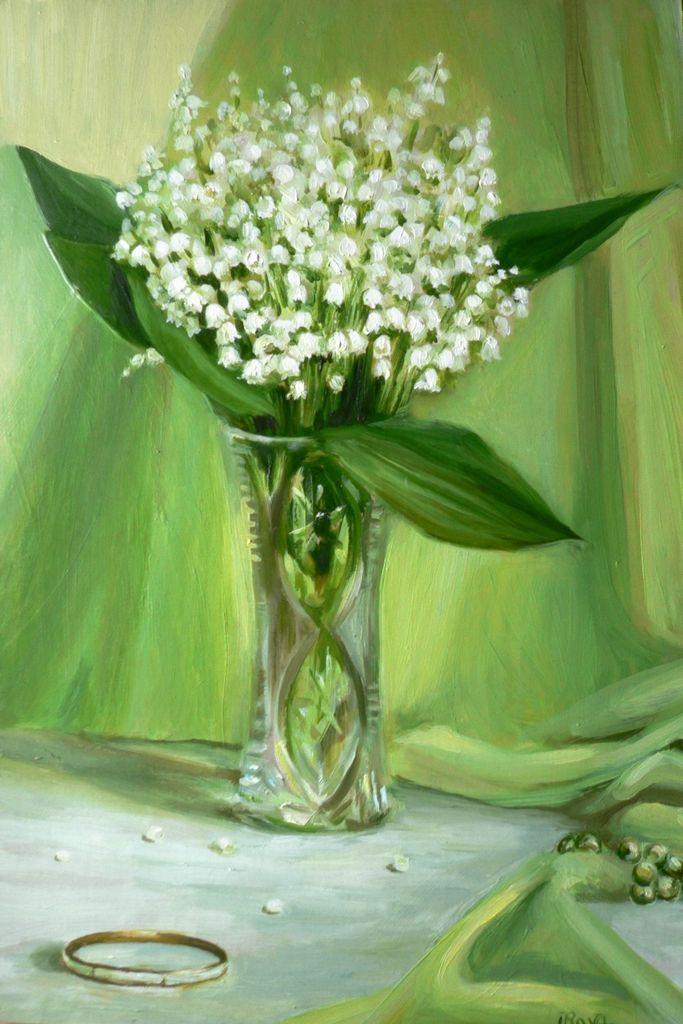 Рава Инга. Аромат весны | Цветочные картины, Рисование ...
