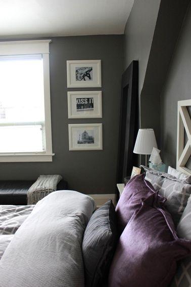 couleur violet et gris pour deco chambre zen | New Look | Pinterest ...
