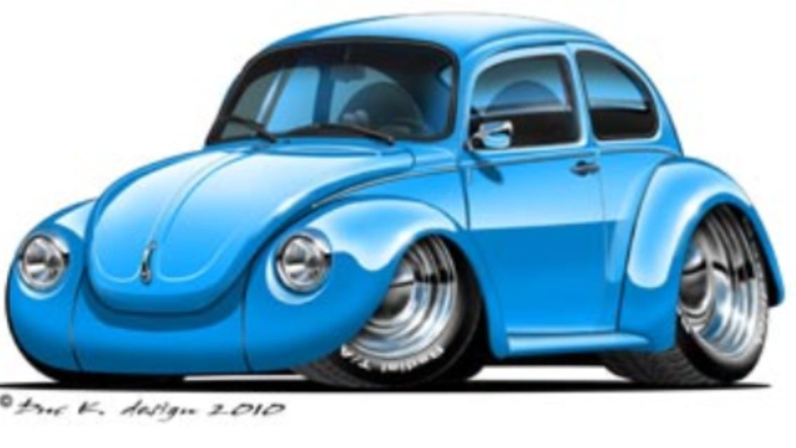 Cartoon Beetle With Images Vw Art Art Cars Car Artwork