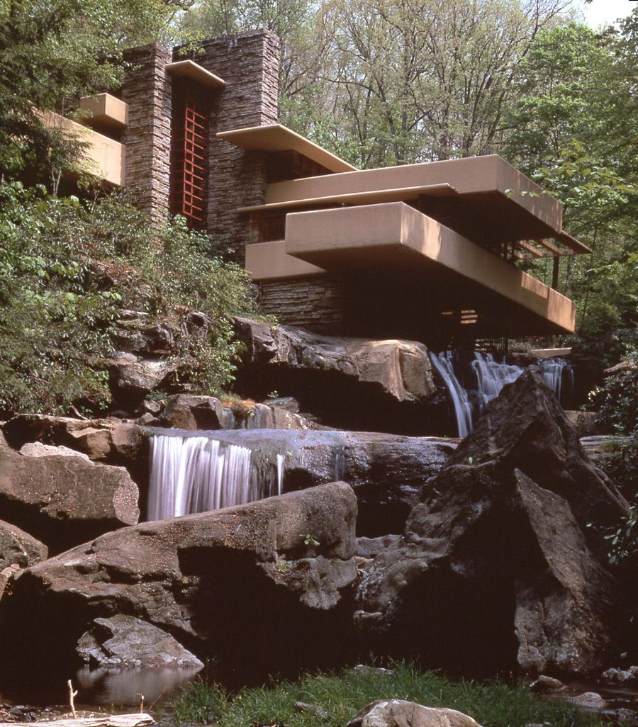 organic architecture falling water by frank lloyd wright simply amazing multipath icons. Black Bedroom Furniture Sets. Home Design Ideas