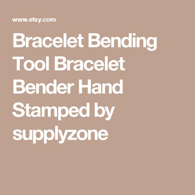 Bracelet Bending Tool  Bracelet Bender  Hand Stamped by supplyzone