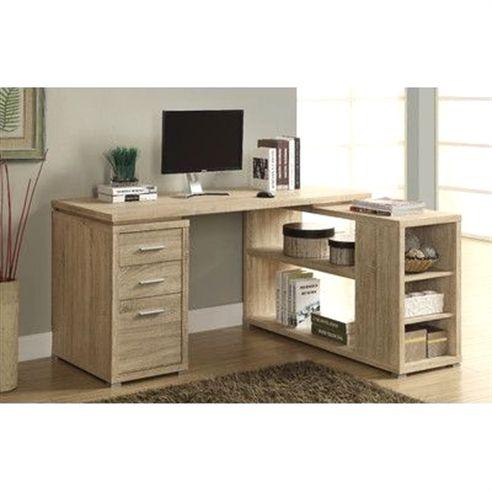Willa Arlo Interiors Drewes L-Shaped Desk Color Natural
