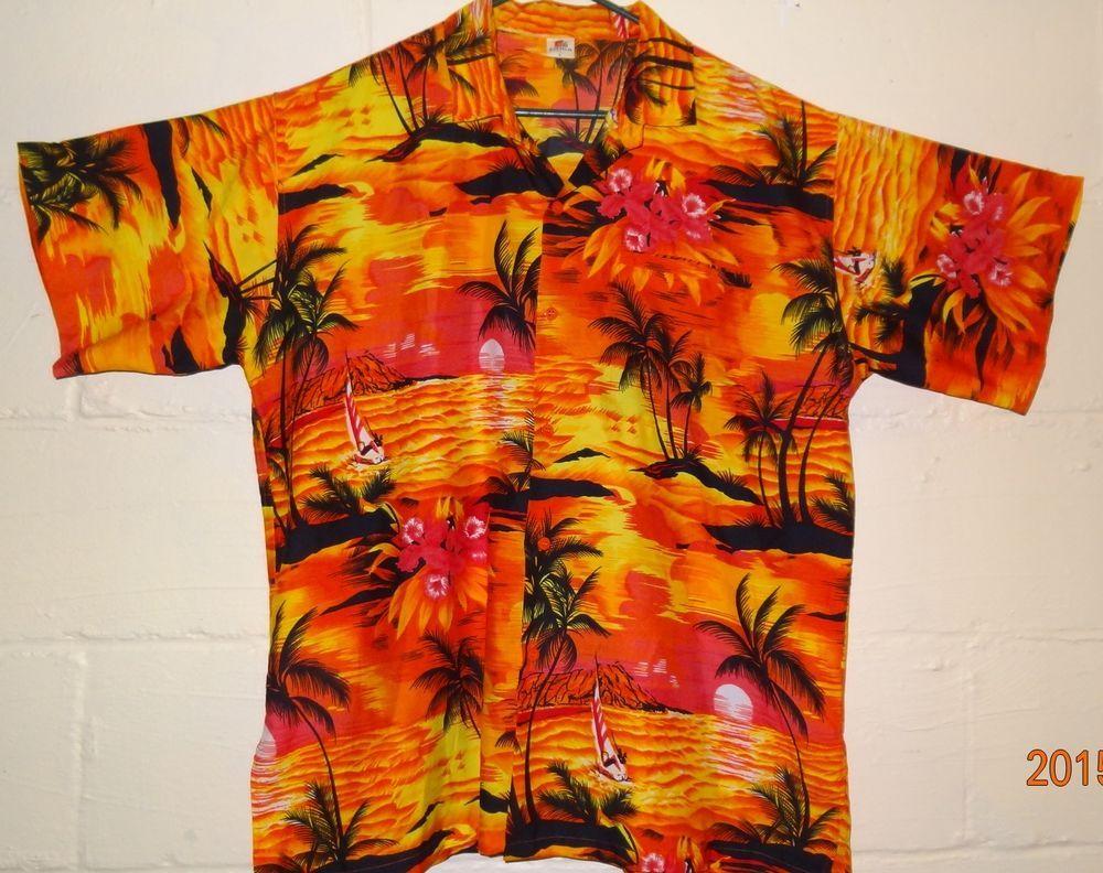 73c857572 Men's Hawaiian Shirt Size Large 25 1/2