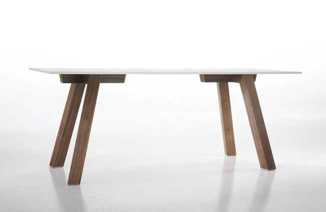 image result for white table top with wood legs