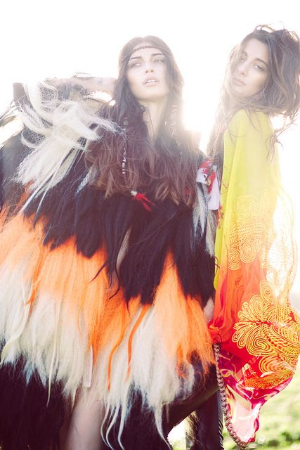 """""""American Indian Editorial by Lara Jade"""" Lara Jade of the UK! Gotta LOVE the photographers from the UK and their European models abusing the sacred of the AMERICAN Indian. WOW! They never stop. Negative stereotypes of American Indians is how the UK sees us. BTW: Looks like a bird with a white chick's head."""