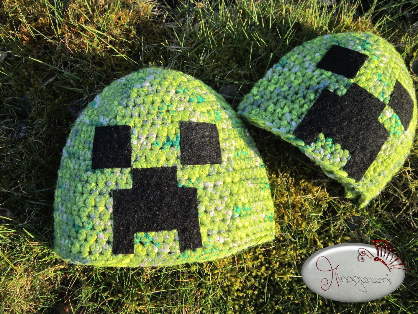 Minecraft Mütze gehäkelt :) Minecraft hat - crochet | Minagurumi ...