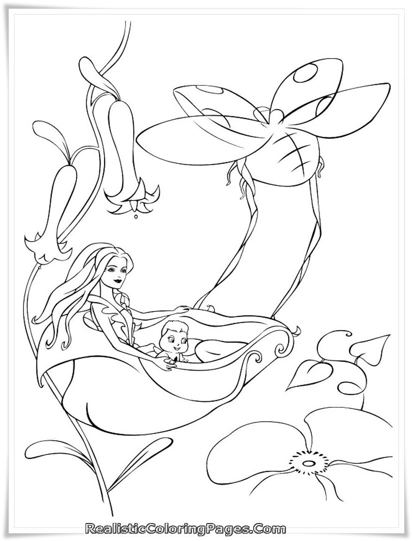 Realistic Coloring Pages Of Barbie Fairytopia Coloring Book